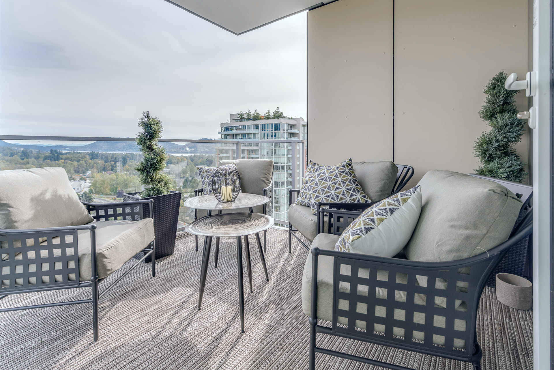 Patio in a North Vancouver Apartment
